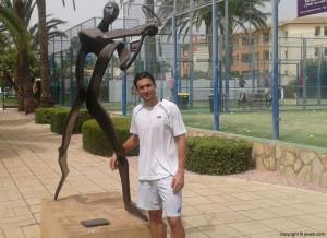 David Ferrer en Xàbia  (via Javea.com)