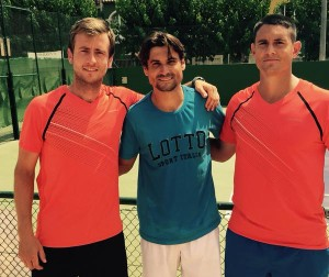 Simon and Alex and David Ferrer!!!