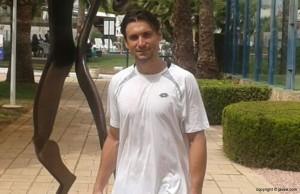 David Ferrer durante su estancia en el Club Tenis Jávea (via Javea.com)