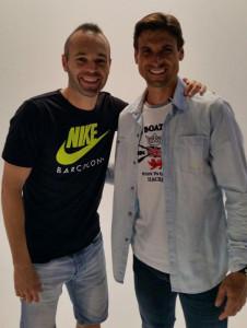 Andrés Iniesta y David